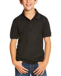 Ariat Boys' Solid Short Sleeve Polo, , hi-res