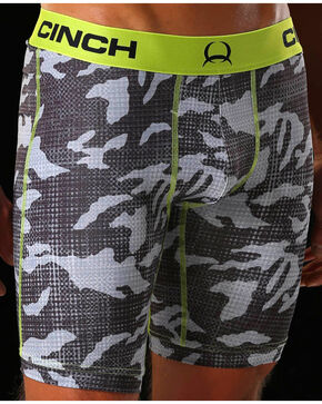 "Cinch Men's Athletic 9"" Boxer Briefs, Multi, hi-res"