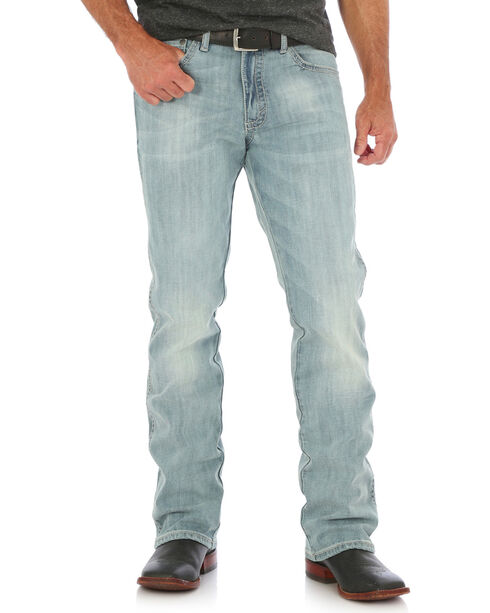 Wrangler Men's Light Blue 20X No. 42 Vintage Jeans - Boot Cut , Light Blue, hi-res