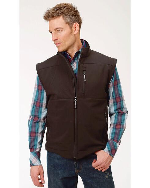 Roper Men's Concealed Carry Softshell Vest, Black, hi-res