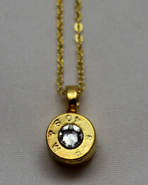 SouthLife Supply Women's Dolly Bullet Pendant in Traditional Gold with Crystal, , hi-res