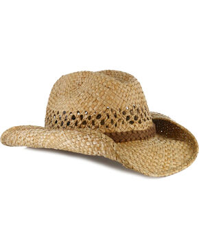 Cody James® Men's Classic Straw Cowboy Hat, Natural, hi-res