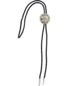 Cody James® Men's Filigree Concho Bolo Tie, Silver, hi-res