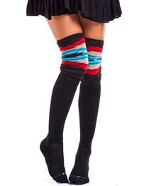 Bootights Women's Aztec Trim Boot Socks, , hi-res