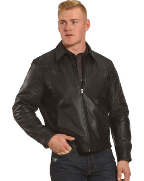 Cody James Men's Lambskin Jacket, Black, hi-res