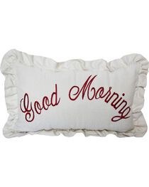 HiEnd Accents Good Morning Embroidered Pillow, , hi-res