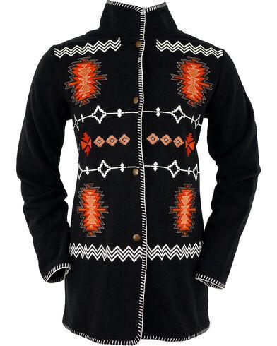 Ladies Monogram Fleece Jacket in Aqua ...