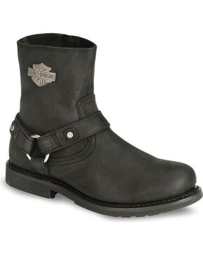 Harley Davidson Ranger Scout Pull-On Harness Boots, Black, hi-res