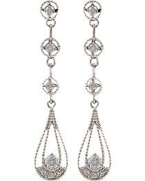 Montana Silversmiths Women's Three Tiered Raindrop Earrings, , hi-res