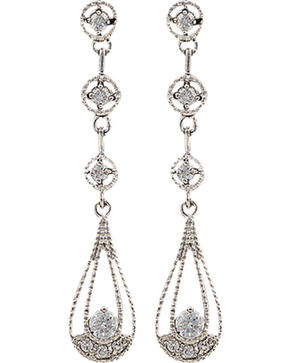 Montana Silversmiths Women's Three Tiered Raindrop Earrings, Silver, hi-res
