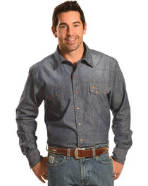 Garth Brooks Sevens by Cinch Chambray Western Shirt, , hi-res