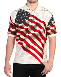 Cody James Men's Independence Short Sleeve Polo Shirt , , hi-res