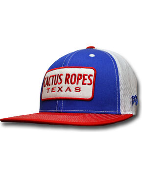 Hooey Men's Cactus Ropes Trucker Cap, Red, hi-res