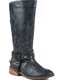 Roper Women's Studded Riding Western Boots, , hi-res