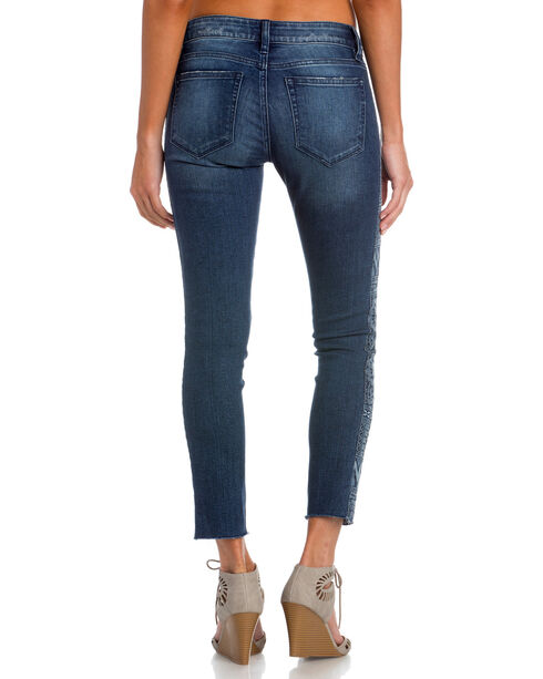 Miss Me Women's Indigo Side by Side Mid-Rise Jeans - Ankle Skinny , Indigo, hi-res