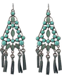 Treska Women's Cowtown Fringe Cord Chandelier Earrings  , , hi-res