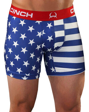 "Cinch Men's 6"" Stars and Stripes Boxer Briefs , Multi, hi-res"