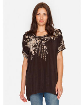 Johnny Was Women's Brown Oasis Blouse , Brown, hi-res