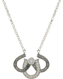 Montana Silversmiths Women's Triple the Luck Necklace, , hi-res