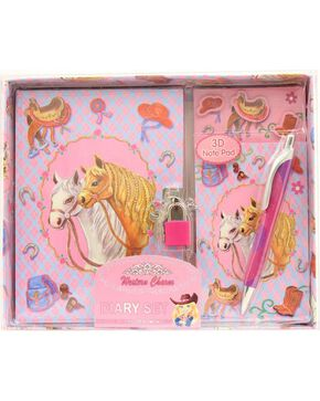 M&F Western Pink Horse Diary Set, Multi, hi-res