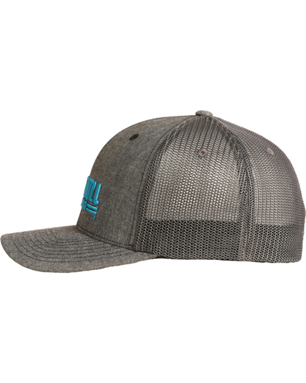 Rock & Roll Cowboy Men's Chambray Turquoise Logo Cap, Blue, hi-res