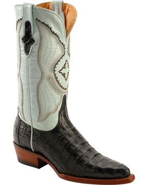 Ferrini Powder Blue Caiman Belly Cowgirl Boots - Snip Toe, Black, hi-res