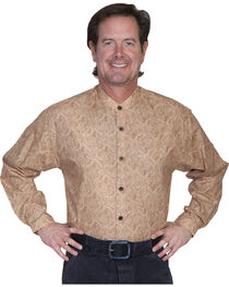 WahMaker by Scully Full Button Front Paisley Shirt, Brown, hi-res