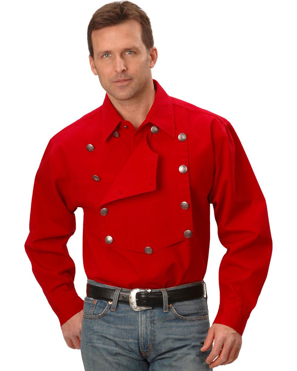 Scully Men's Range Wear Bib Shirt, Red, hi-res