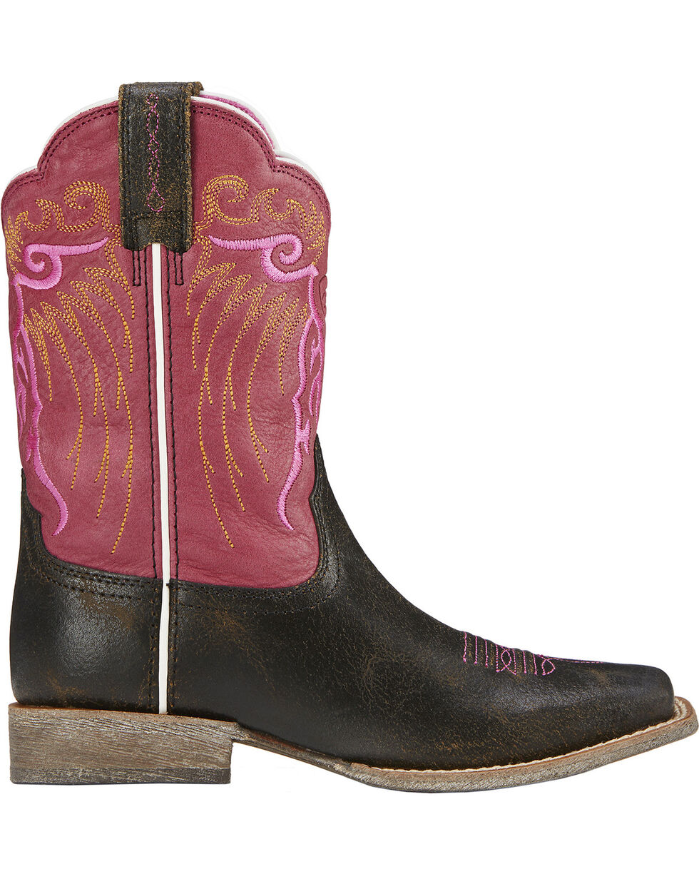 Ariat Girls' Mesteno Boot Cowgirl Boots - Square Toe, , hi-res