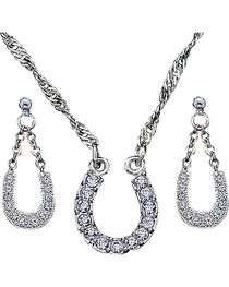 Montana Silversmiths Women's Horseshoe Jewelry Set, , hi-res