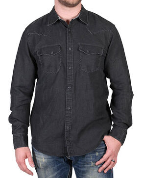 Cody James® Men's Dartmoor Western Long Sleeve Shirt, Black, hi-res