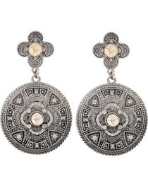 Shyanne® Women's Vintage Medallion Earrings, , hi-res