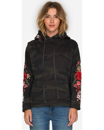 Johnny Was Women's Camo Merl Pull On Hoodie , , hi-res