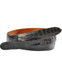 Lucchese Men's Black Alligator Leather Belt, , hi-res