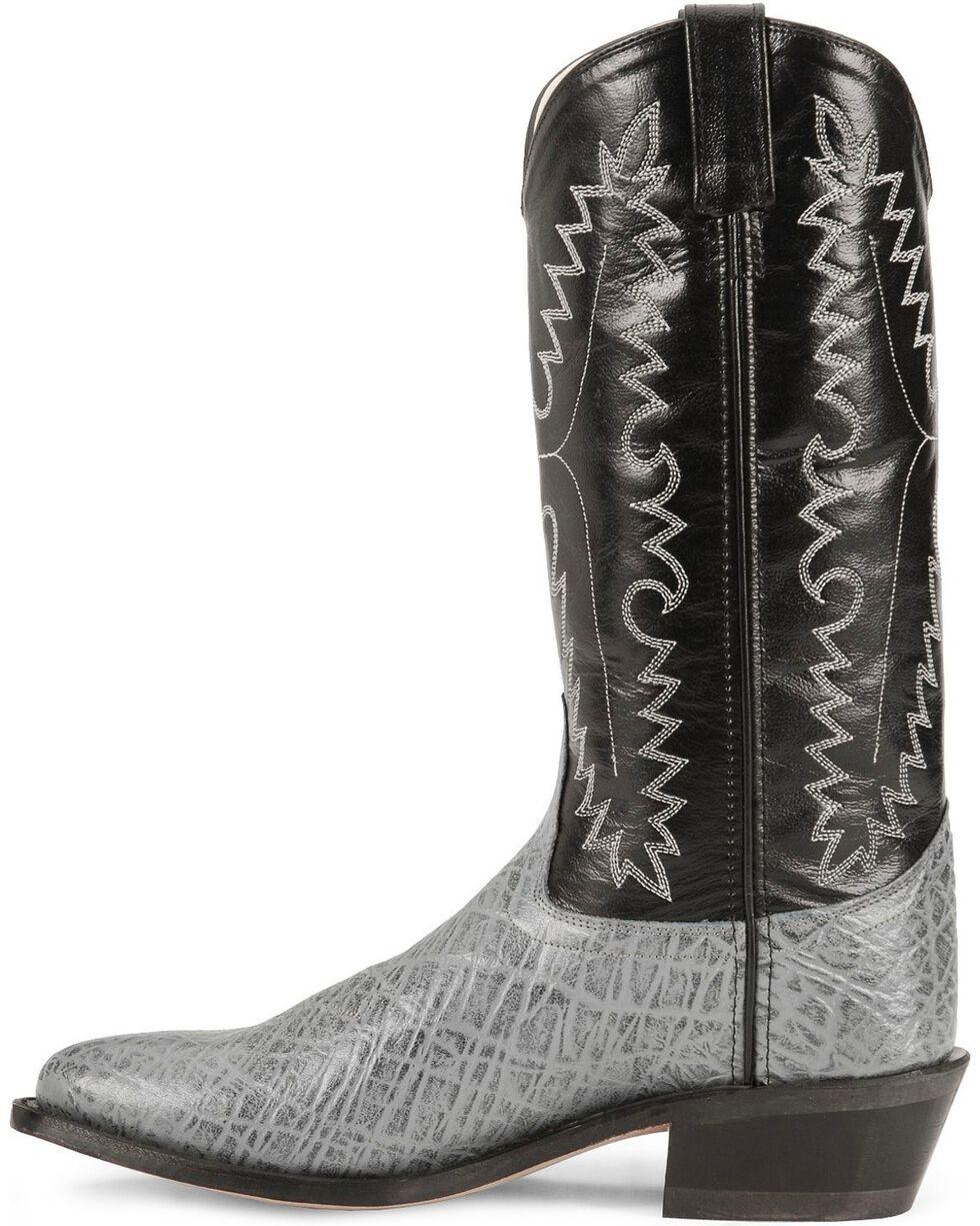 Old West Men's Elephant Print Western Boots, Grey, hi-res