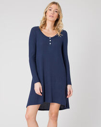 Z Supply Women's Black Iris Marled Navy Sweater Dress , , hi-res