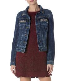 Miss Me Women's Glitterati Denim Jacket, , hi-res