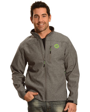 Hooey Men's Zip-Up Soft Shell Jacket, Grey, hi-res