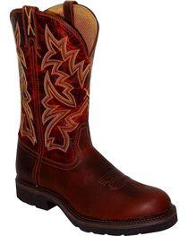 Twisted X Men's Steel Toe Western Work Boots, Brandy, hi-res