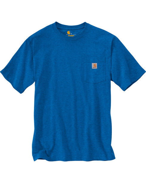 Carhartt Men's Blue Heather Workwear Pocket T-Shirt - Tall, Blue, hi-res