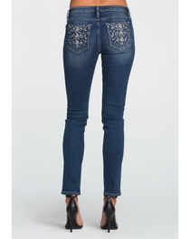 Miss Me Women's Indigo All That Sparkles Mid-Rise Jeans - Skinny , , hi-res