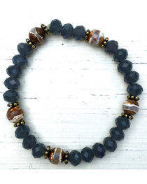 InspireDesigns Women's Blue Carbon Stretch Bracelet , , hi-res