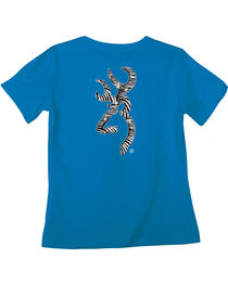 Browning Women's Classic Fit Zebra Blue T-Shirt, , hi-res