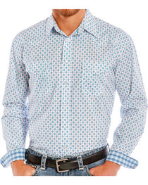 Rough Stock by Panhandle Men's Diamond Patterned Long Sleeve Shirt, , hi-res