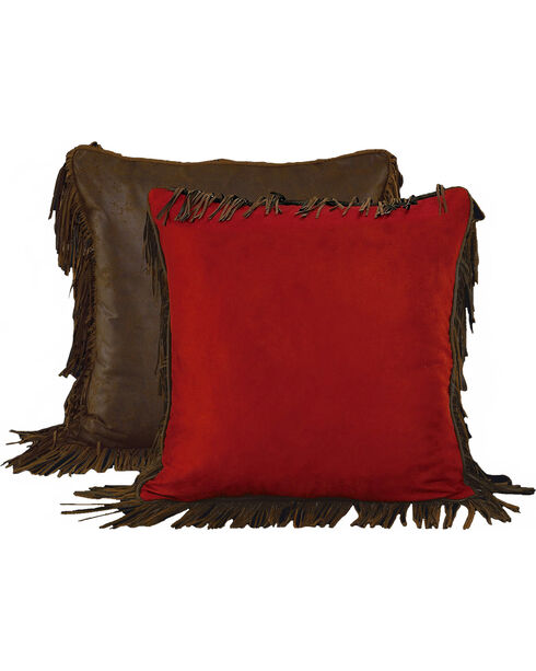 HiEnd Accents Reversible Fringed Euro Pillow Sham, Multi, hi-res