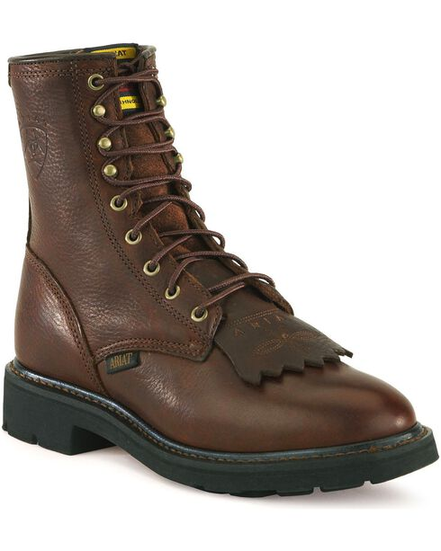 "Ariat Men's 8"" Cascade Work Boot, Henna, hi-res"