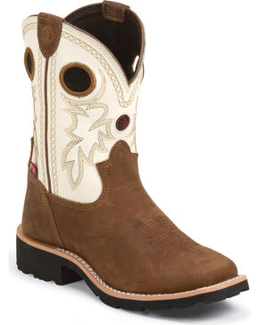 Tony Lama Kid's 3R Western Boots, Bark, hi-res