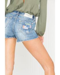 Grace in LA Patchwork Cutoff Shorts, , hi-res