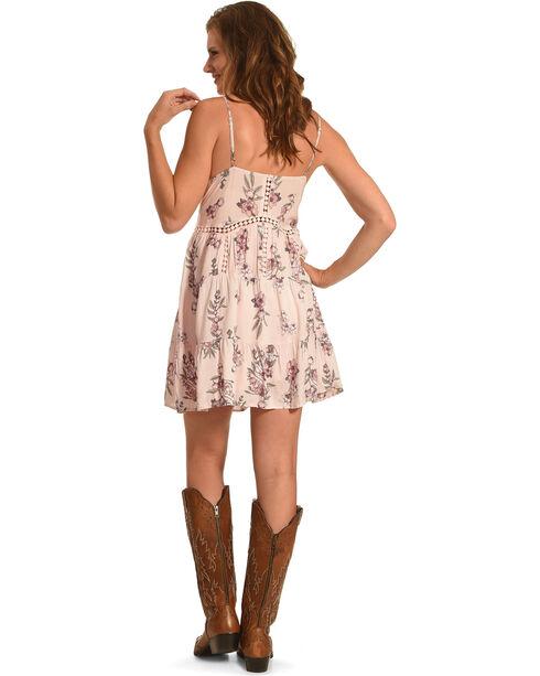 J JUVA Women's Floral Print Sleeveless Dress, Pink, hi-res
