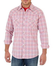 Wrangler 20X Men's long Sleeve Spread Collar Plaid Shirt, , hi-res
